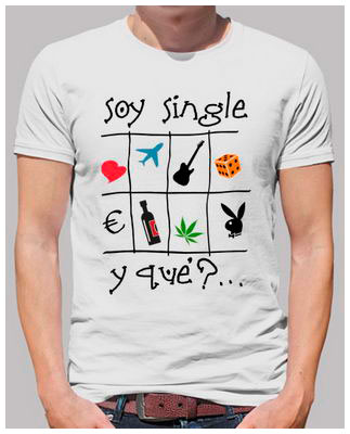 Soy single - Camiseta de manga corta