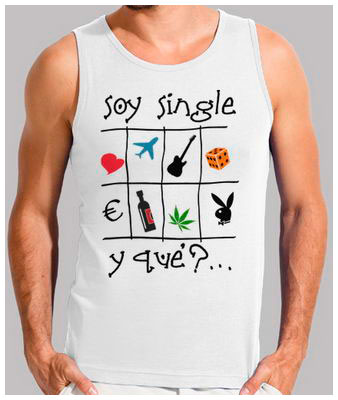 Soy single - Camiseta de tirantes