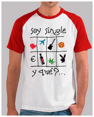 Soy single - Camiseta tipo béisbol